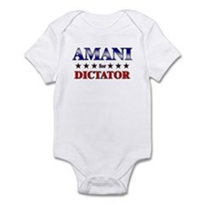 AMANI for dictator Infant Bodysuit