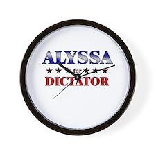 ALYSSA for dictator Wall Clock