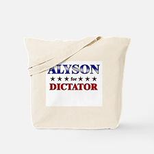 ALYSON for dictator Tote Bag