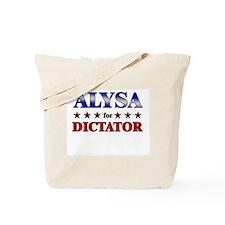 ALYSA for dictator Tote Bag