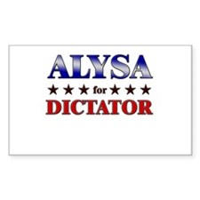 ALYSA for dictator Rectangle Decal