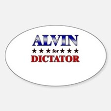 ALVIN for dictator Oval Decal