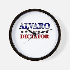 ALVARO for dictator Wall Clock
