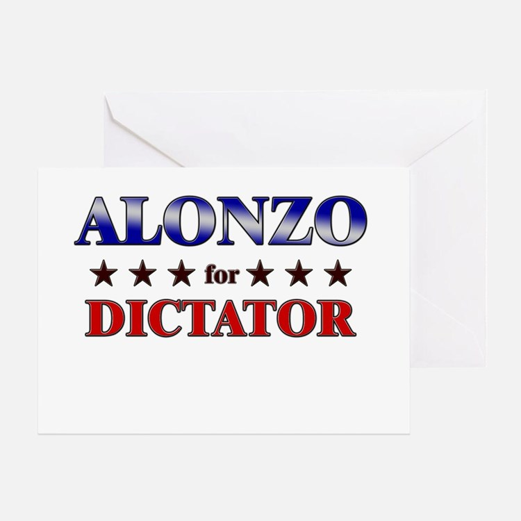 ALONZO for dictator Greeting Card