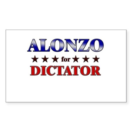 ALONZO for dictator Rectangle Sticker