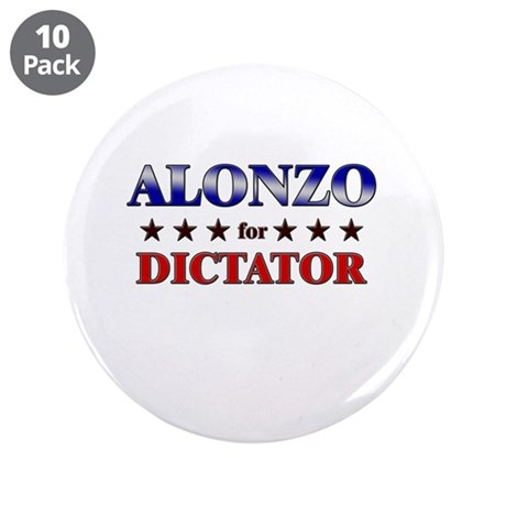 """ALONZO for dictator 3.5"""" Button (10 pack)"""
