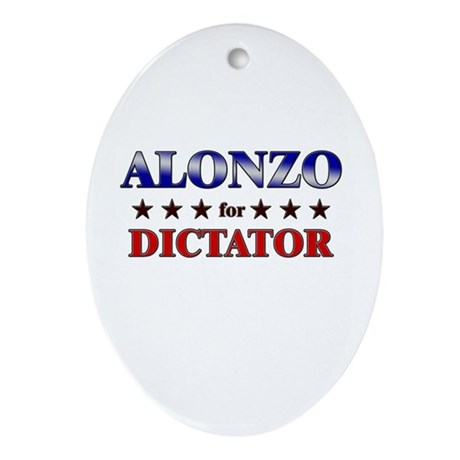 ALONZO for dictator Oval Ornament