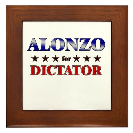 ALONZO for dictator Framed Tile