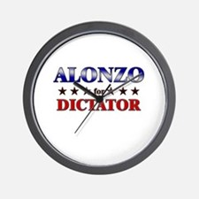ALONZO for dictator Wall Clock