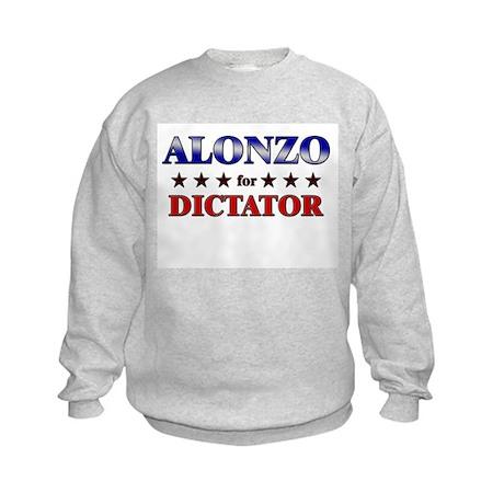 ALONZO for dictator Kids Sweatshirt