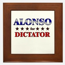 ALONSO for dictator Framed Tile