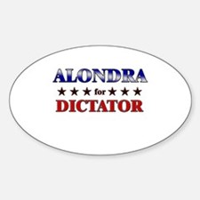 ALONDRA for dictator Oval Decal