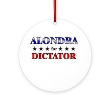 ALONDRA for dictator Ornament (Round)