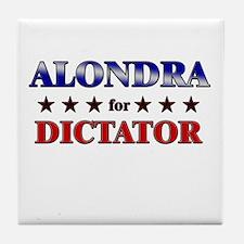 ALONDRA for dictator Tile Coaster