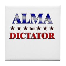 ALMA for dictator Tile Coaster