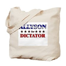 ALLYSON for dictator Tote Bag