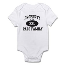 Property of Razo Family Infant Bodysuit