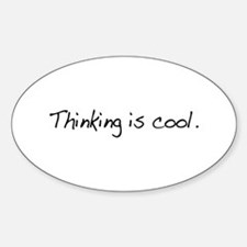 Thinking is Cool Oval Decal
