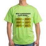 Genealogist Thinks Green T-Shirt