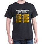 Genealogist Thinks Dark T-Shirt