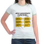 Genealogist Thinks Jr. Ringer T-Shirt