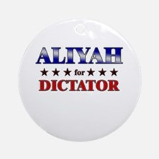 ALIYAH for dictator Ornament (Round)