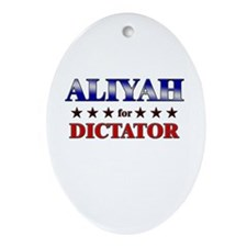 ALIYAH for dictator Oval Ornament