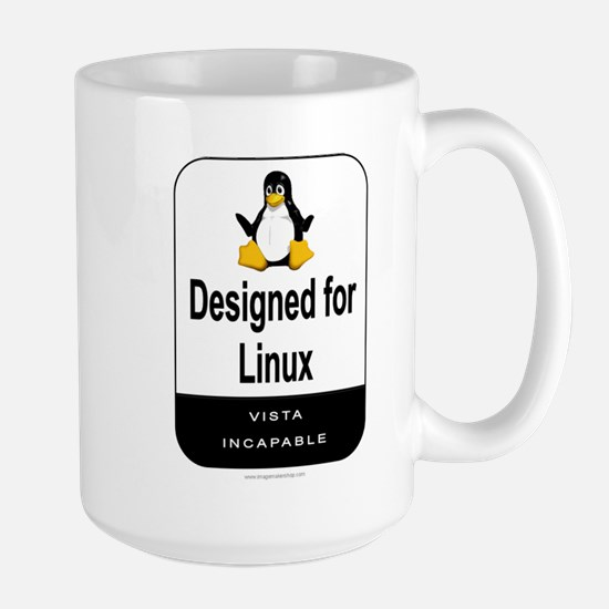 Designed For Linux Large Mug