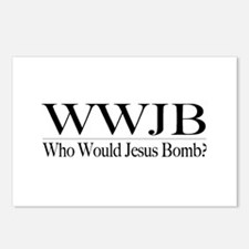 Who Would Jesus Bomb Postcards (Package of 8)