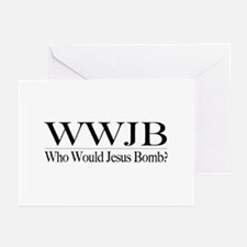 Who Would Jesus Bomb Greeting Cards (Pk of 20)