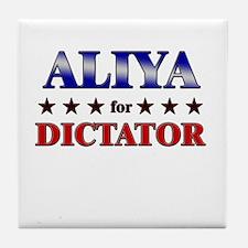 ALIYA for dictator Tile Coaster