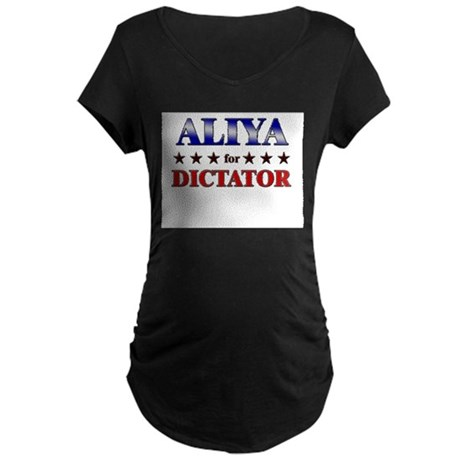 ALIYA for dictator Maternity Dark T-Shirt