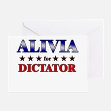 ALIVIA for dictator Greeting Card