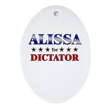 ALISSA for dictator Oval Ornament