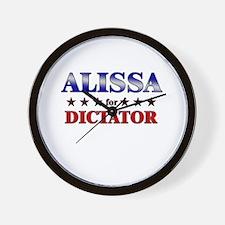 ALISSA for dictator Wall Clock