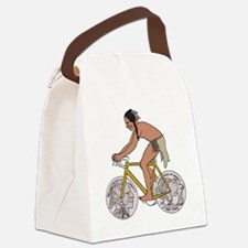 Funny Coin Canvas Lunch Bag