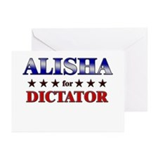 ALISHA for dictator Greeting Cards (Pk of 10)