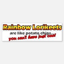 Potato Chips Rainbow Lorikeet Bumper Bumper Bumper Sticker