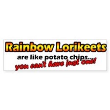 Potato Chips Rainbow Lorikeet Bumper Bumper Sticker