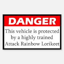 Danger Attack Rainbow Lorikeet Decal