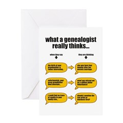 Genealogist Thinks Greeting Card