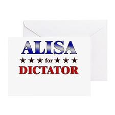 ALISA for dictator Greeting Card