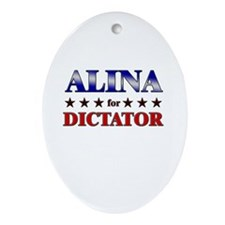 ALINA for dictator Oval Ornament