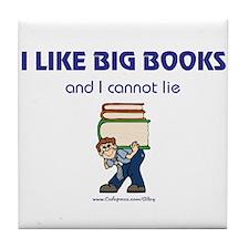 Like Big Books (m) Tile Coaster
