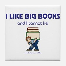 Like Big Books (m) Tile Coaster