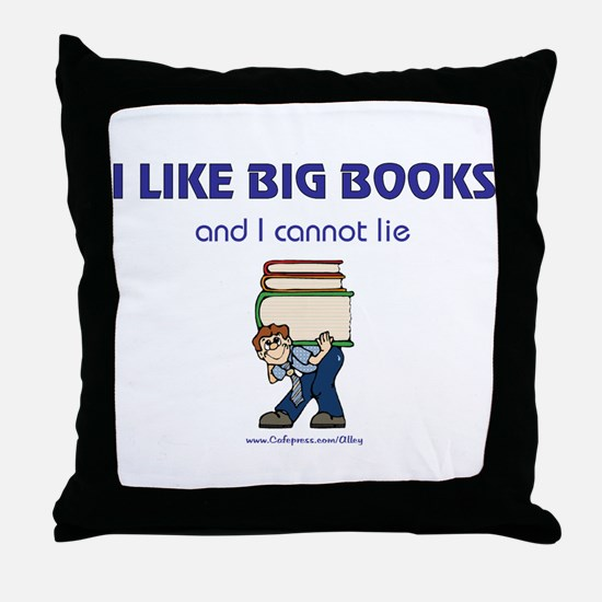 Like Big Books (m) Throw Pillow
