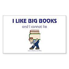 Like Big Books (m) Rectangle Decal