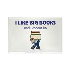 Like Big Books (m) Rectangle Magnet