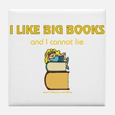 Like Big Books (f) Tile Coaster
