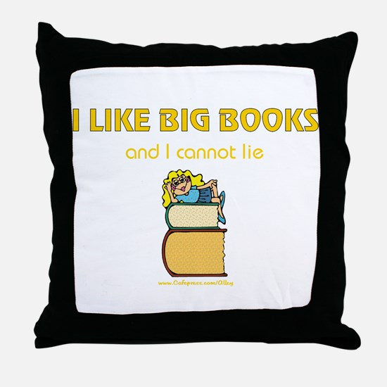 Like Big Books (f) Throw Pillow